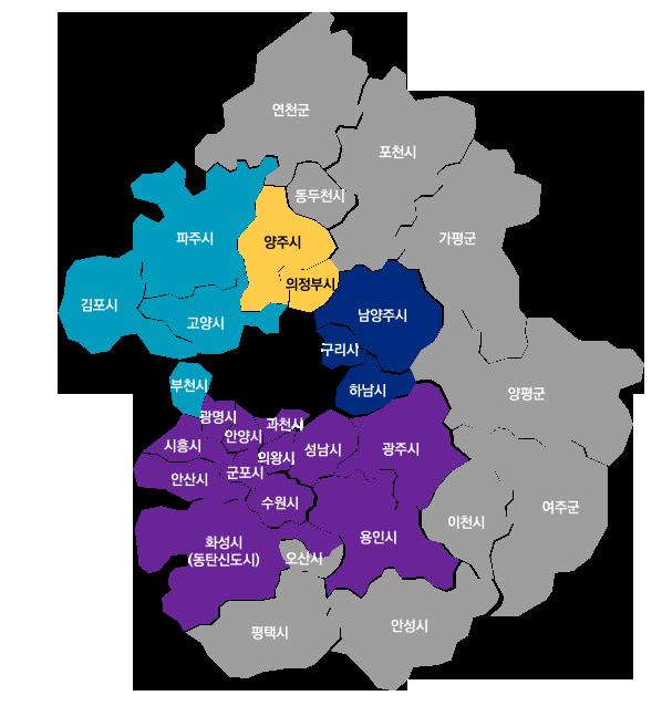 수도권지도